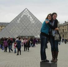 The Louvre in Paris brings joy to the lives of ND student Natalie B and her friend
