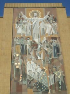 Jesus Mosaic of Hesburgh Library