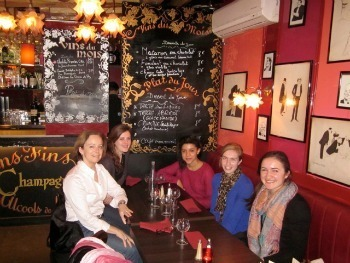 Professor Julia Douthwaite and French students in Paris