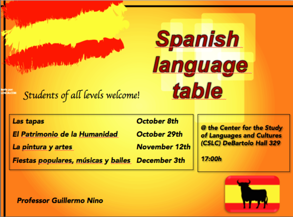 Spanish Language Table