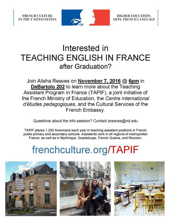 Tapif Alumni Info Session Flyer