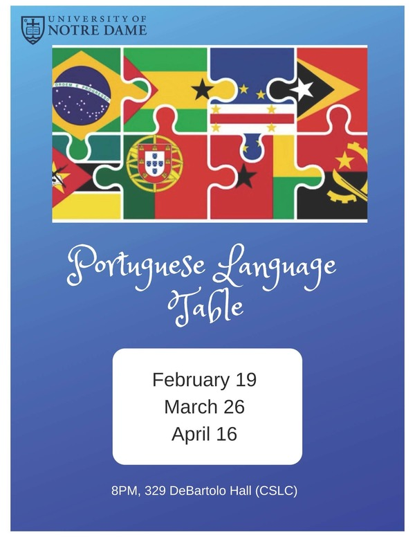 Portuguese Language Table Spring 2019