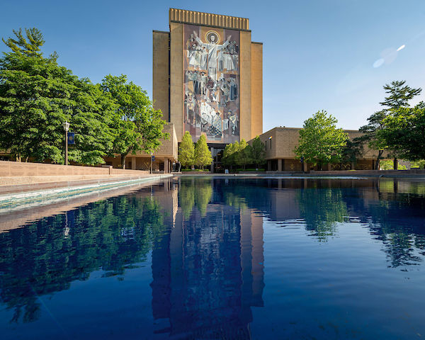 Library Reflecting Pool